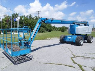 2006 Genie Z80/60 Boom Lift Man Lift Manlift Articulating Boomlift Man Basket photo