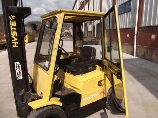 Forklift Hyster H60xm Pneumatic Tires 6000 Triple 185 Sideshift Gasoline Lights photo
