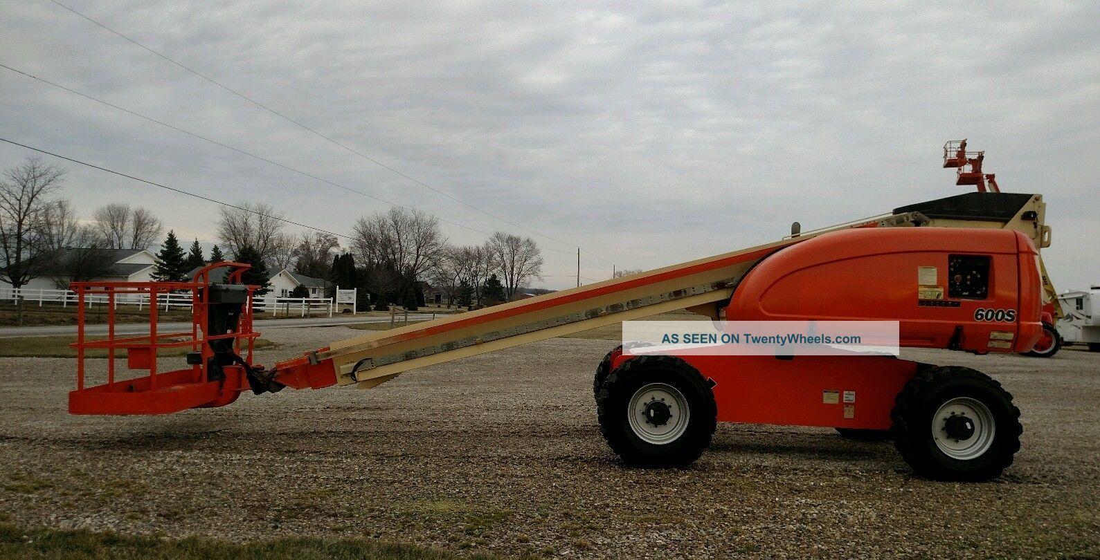 2007 Jlg 600s Boom Man Lift 60 ' Aerial Cat Diesel 4x4 1060 Hour Scissor & Boom Lifts photo