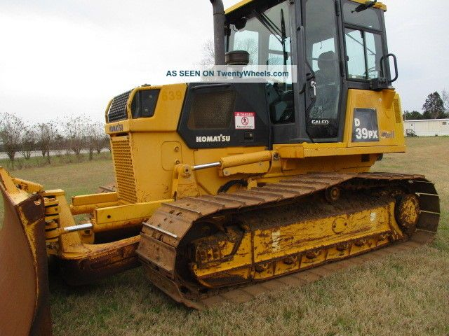 2008 Komatsu D39px21a Cab Bulldozer W 6 Way Blade Crawler Dozers & Loaders photo