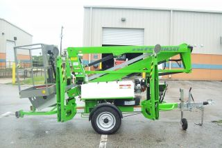 Nifty Tm34t 40 ' Boom Lift,  Hydraulic Outriggers,  20 ' Outreach,  Battery Powered,  Insc photo