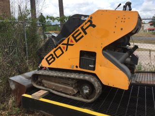 Boxer Walk Behind Mini Skid Steer Loader photo