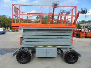2007 Skyjack Sj - 8243 Rough Terrain Scissor Lift - 1,  000 Lb Capacity - Diesel 4x4 photo