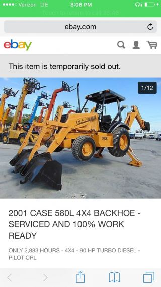 Backhoe Case 580l Bought From Budget Equipment And It ' S A Pile Of Junk. photo