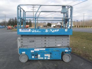 2008 Genie Gs3246 32 ' Electric Slab Scissor Lift Manlift 32ft Platform Lift photo