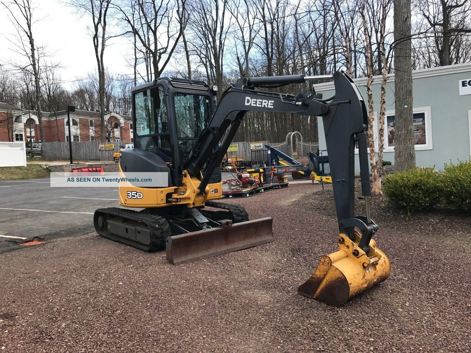 Johndeere 35d Rubber Tracks Aux Hook Ups Excavators photo