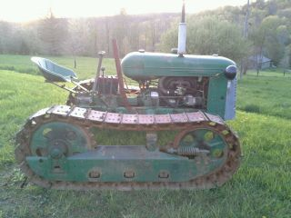 Oliver Cletrac Hg 68 Wide Gauge Gas Crawler Tractor photo