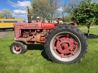 1949 Farmall M Tractor.  Runs Or Ready For Restoration Has Optional Fenders photo