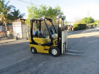 Yale 40vx 4000lb Forklift Pneumatic Tires Automatic Propane Side Shift 601 Hrs photo