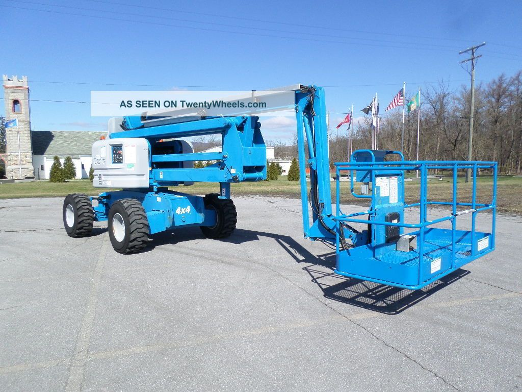 2006 Genie Z60/34 Boom Lift Man Lift Manlift Articulating Boomlift Man Basket Scissor & Boom Lifts photo
