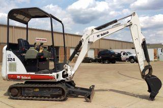 2012 Bobcat 324 Mini Excavator W/ 12