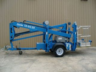 2017 Genie Tz - 34/20 Towable Trailer Mounted Aerial Man Boom Lift Scissor Jlg photo