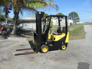 Daewoo Gc15 3000lb Forklift Pneumatic Tires Automatic Propane Side Shift 677 Hrs photo