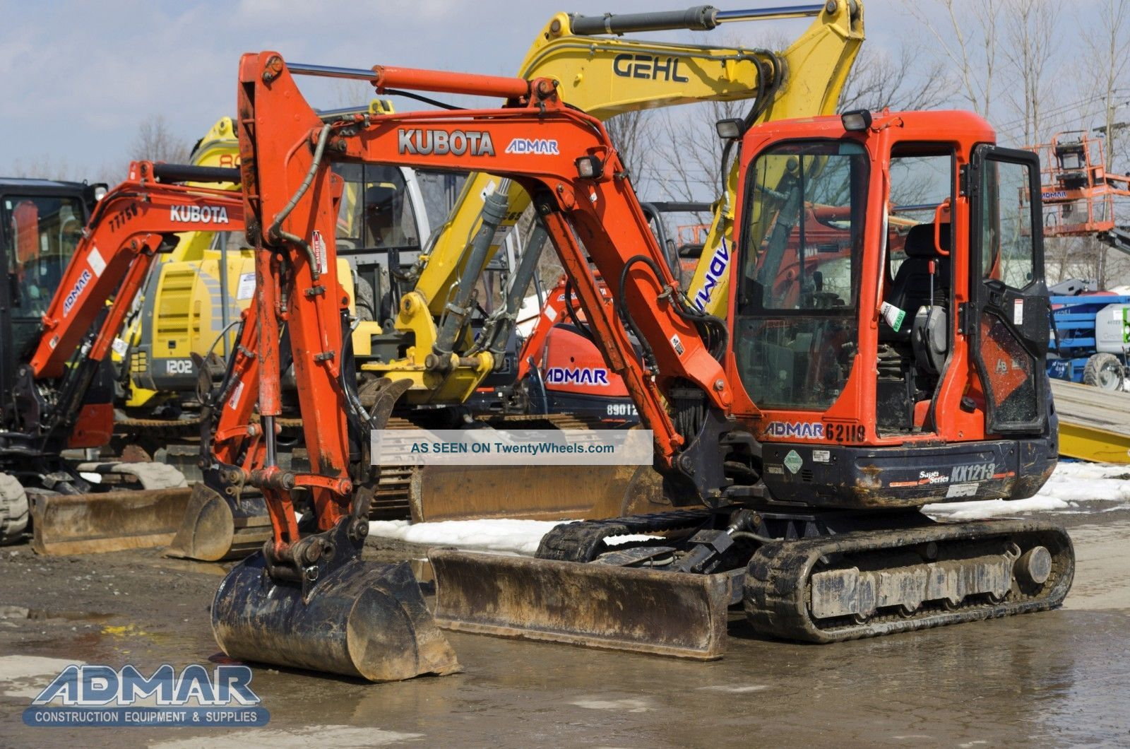 2012 Kubota Kx121r3at3 Excavator,  With Cab,  Angle Blade And Thumb. Excavators photo
