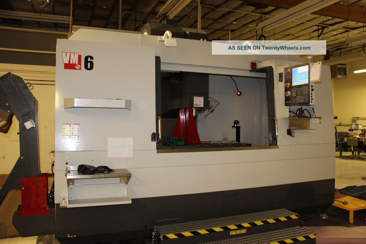 Haas Vm - 6 Mold Maker Cnc Vertical Machining Center Mill 64x32 Ct40 40 Tools 15 Milling Machines photo