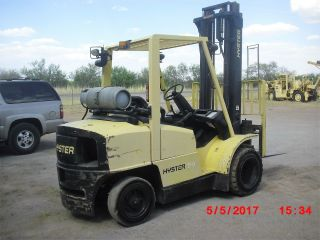 Hyster H80xm 8,  000 Pneumatic Dual Tire Forklift,  Propane,  Ss,  2 Stage Mast. photo