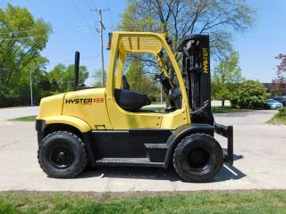 2008 Hyster H155ft 15500lb Pneumatic Forklift Diesel Lift Truck Hi Lo 100/185 photo