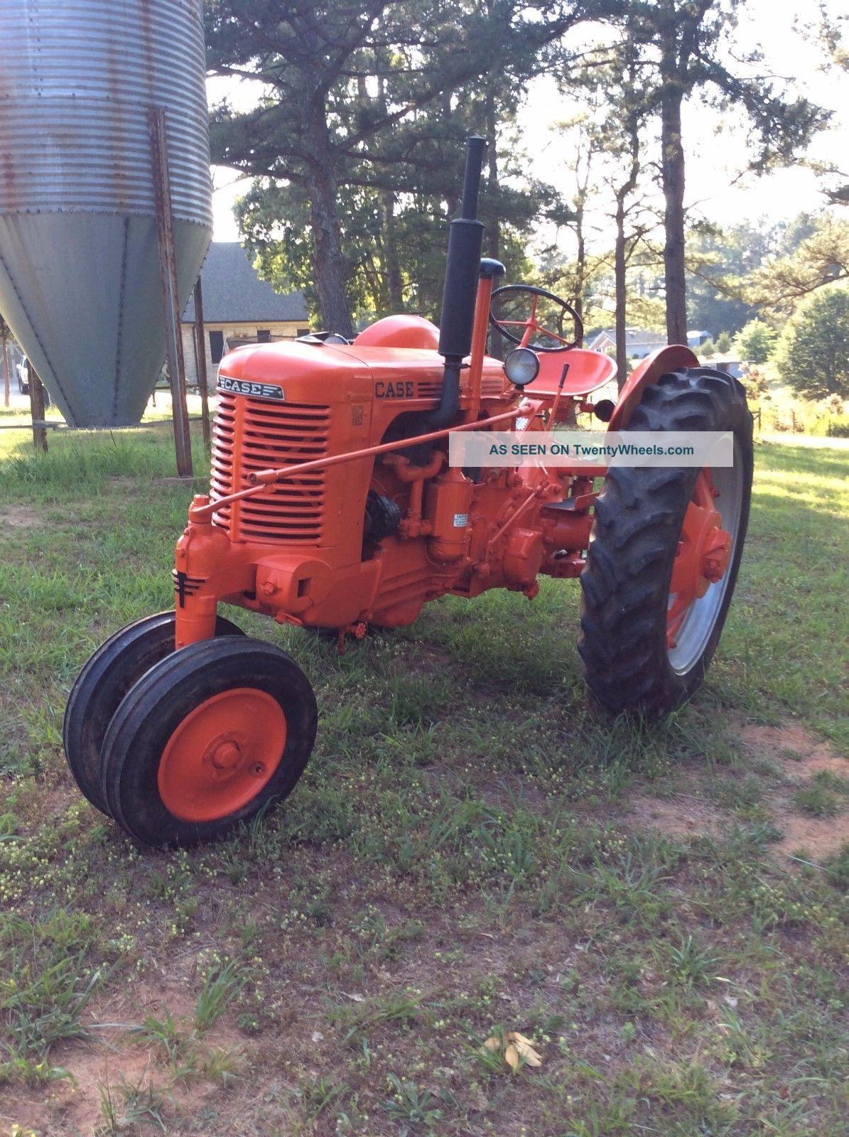 Antique Tractors Equipment : Case sc antique tractor