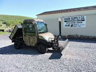 2011 Kubota Rtv1100 Utv Utility Vehicle 4x4 Diesel Side By Side Snow Plow photo