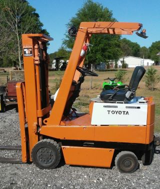 Toyota Electric 3000 Lb.  Forklift Lift Truck Hyster Clark photo