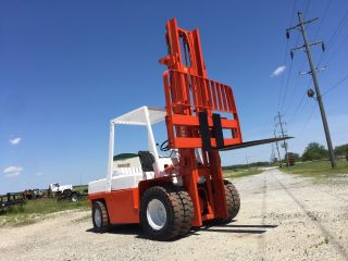 9000 Pound Pick Nissan Forklift Dual Wheels Diesel Side Shift photo