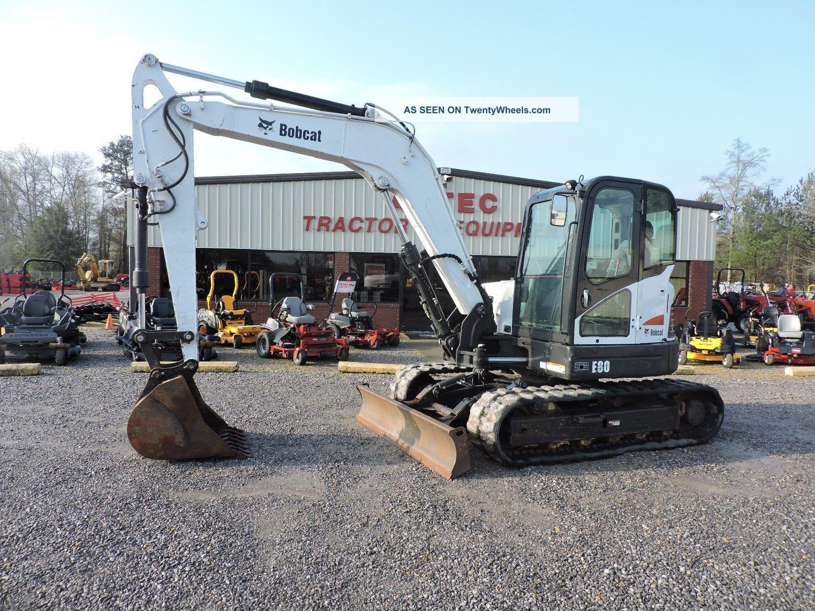 2011 Bobcat E80 Mini Excavator - Caterpillar - Diesel Engine - Excavators photo