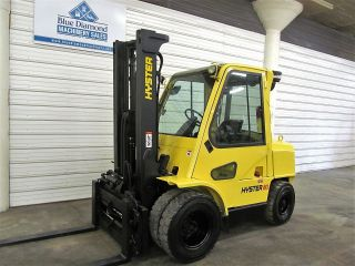 2005 Hyster H80xm 8,  000 Pneumatic Tire Forklift,  Diesel,  Cab,  S/s - F - Pos.  Glp080 photo