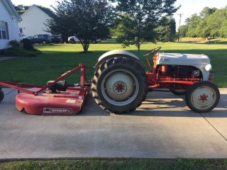 Ford 8n Tractor With 5ft Bushog. photo