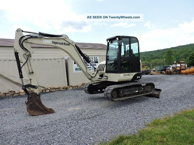 2006 Ingersoll Rand Zx75 Rubber Track Excavator Bobcat 442 Engine Dozer Loader Excavators photo