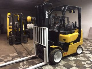 2007 Yale 5000 Lb Forklift With Sideshift Triple Mast Rental Specs Glc050 photo