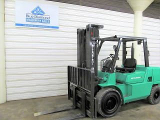 Mitsubishi Fd45k1,  Cat P10000,  10,  000 Forklift,  Diesel,  Three Stage,  S/s photo