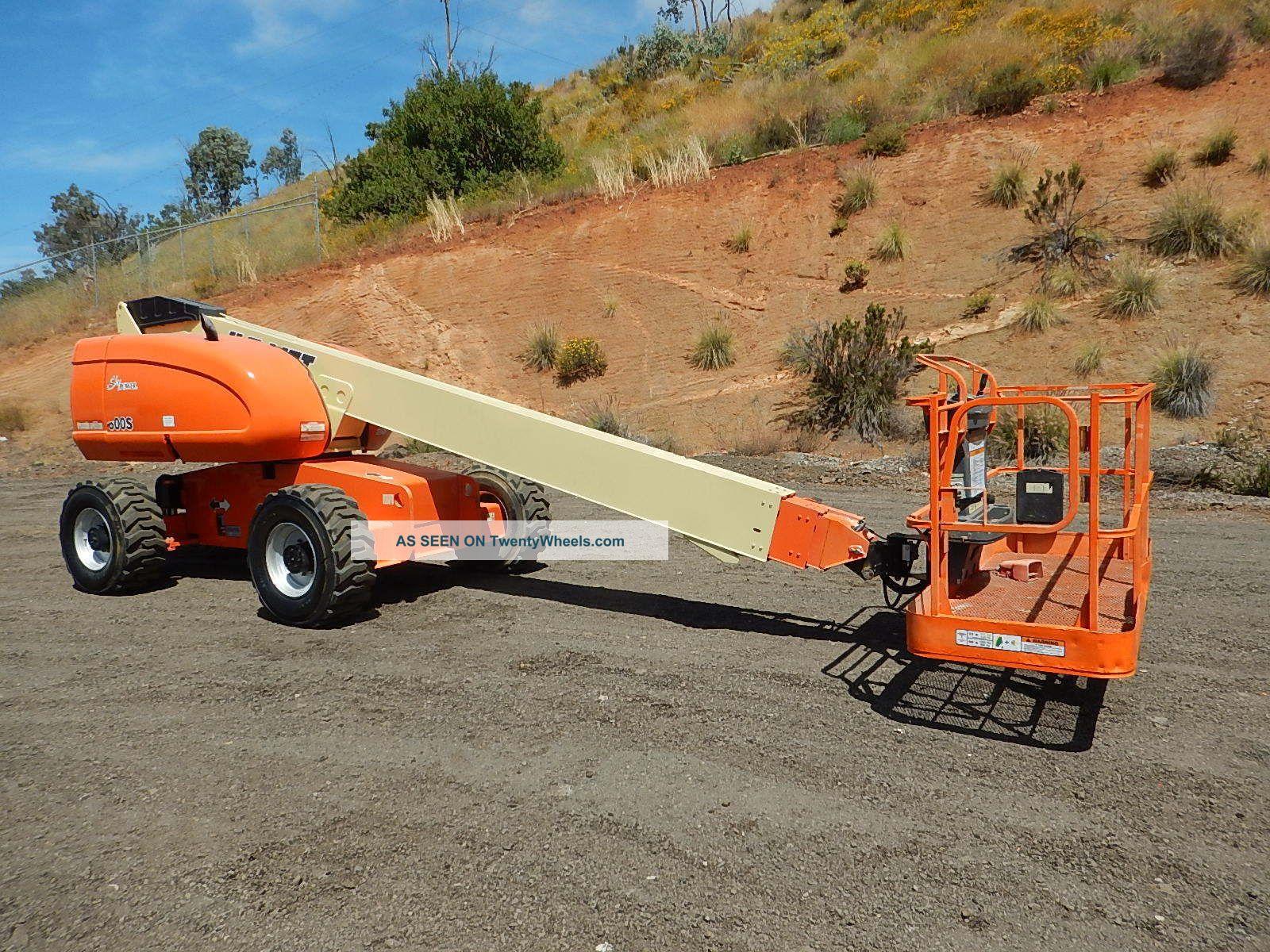 Jlg 600s 60 ' Boom Lift Manlift Man Lift Aerial Telescopic Boomlift Gen Set Scissor & Boom Lifts photo