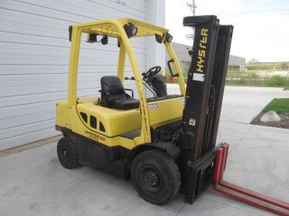 2011 Hyster H50ft.  5000 Lb Capacity Pneumatic Tire Forklift.  Diesel Engine. photo