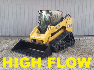 High Flow 2012 Caterpillar 277c Xps Full Cab Track Skid Steer Loader Cat Loader photo