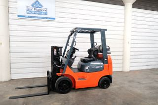 2005 Toyota 7fgcu20,  4,  000 Cushion Tire Forklift,  Sideshift,  Lpg photo