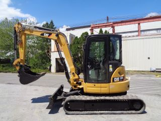 2012 Caterpillar 305ecr Mini Excavator Backhoe Loader - Enclosed Cab - photo