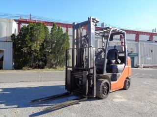 2010 Toyota 8fgcu32 6,  000lb Forklift Boom Truck - Propane - Side Shift photo