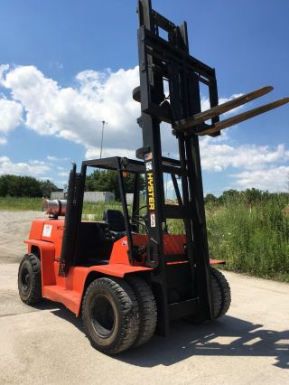 Hyster Pneumatic H155xl Forklift,  Lpg Fuel,  15,  500 Lb Class photo