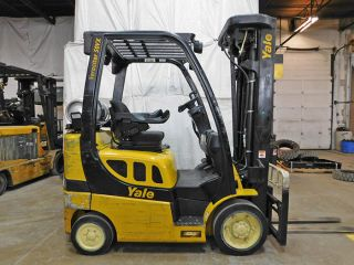 2013 Yale Glc050vx 5000lb Cushion Forklift Lpg Lift Truck Hi Lo 92/264 photo