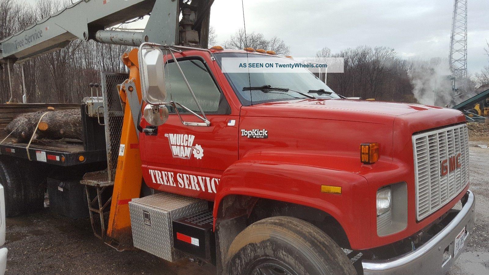 1990 Gmc Topkick 14 Ton Crane Boom Truck Boomtruck,  Jlg Cranes photo