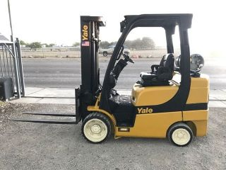 2012 Yale Forklift - 6,  800lb Capacity - 3 Stage Mast - Lpg photo