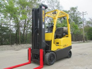 2008 Hyster S30ft Forklift Lift Truck Hilo Fork,  3000lb Capacity,  Traction Tires photo