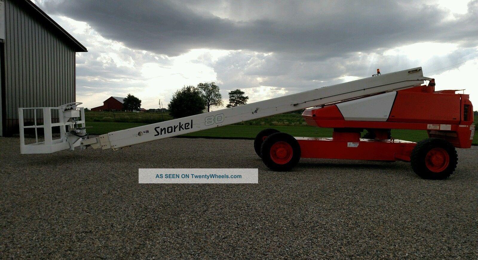 2007 Snorkel Tb80 Boom Man Lift 80 ' Aerial All Terrain Diesel 4x4 Scissor & Boom Lifts photo