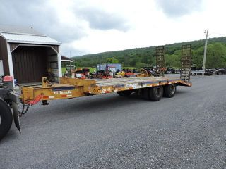 1983 Eager Beaver 20ha 20 Ton Air Brake Equipment Lowboy Trailer Pintle Hitch photo