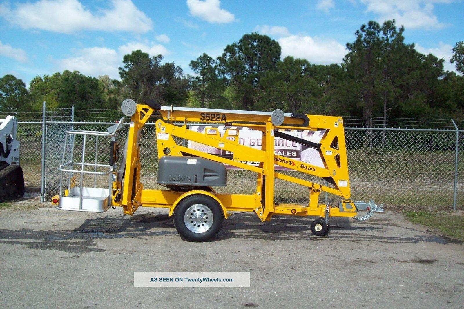Bil Jax 3522a Towable Boom Lift,  43 ' Work Height,  22 ' 6