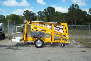 Bil Jax 3522a Towable Boom Lift,  43 ' Work Height,  22 ' 6