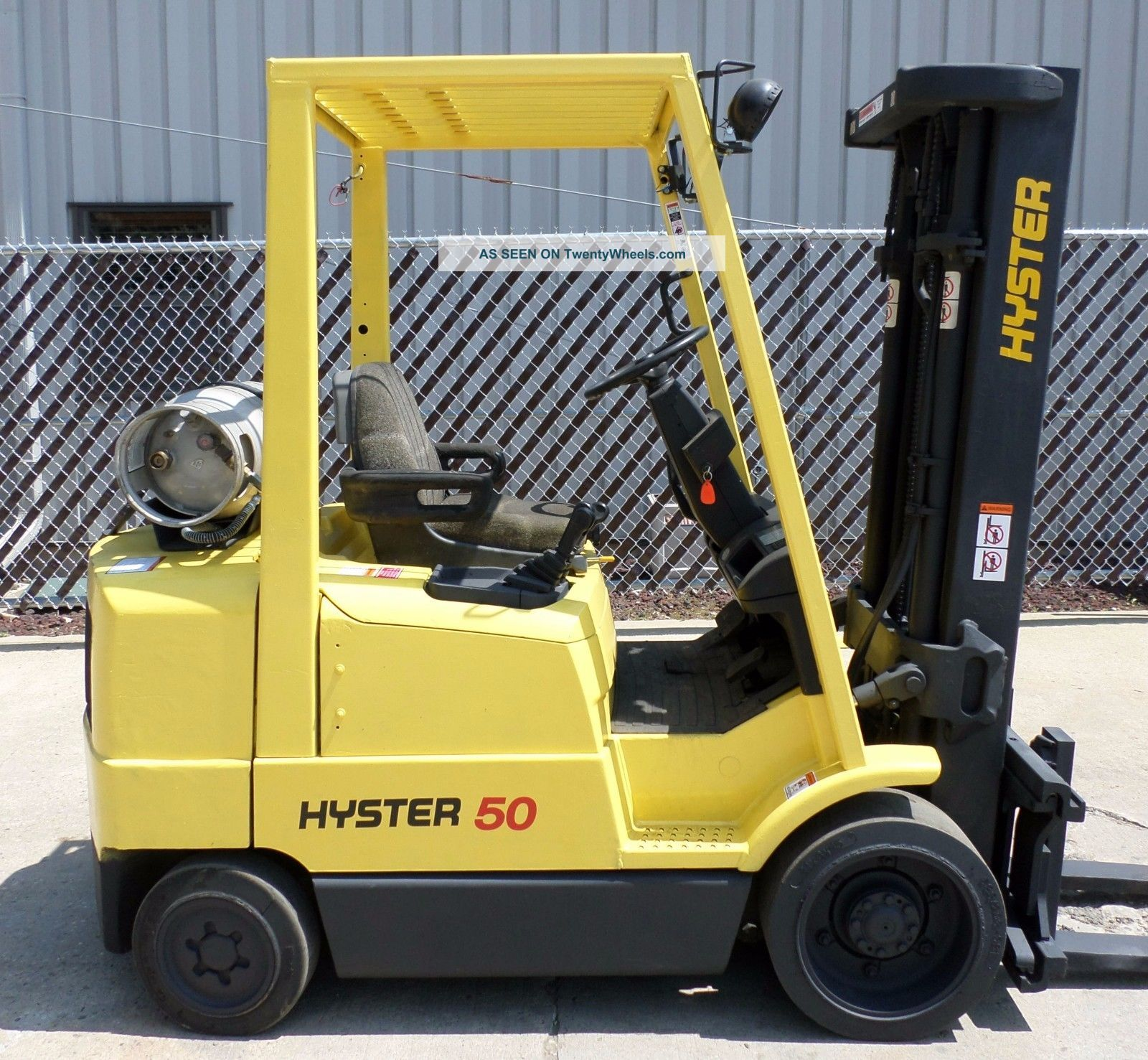 Hyster Model S50xm (1999) 5000lbs Capacity Great Lpg Cushion Tire Forklift Forklifts photo