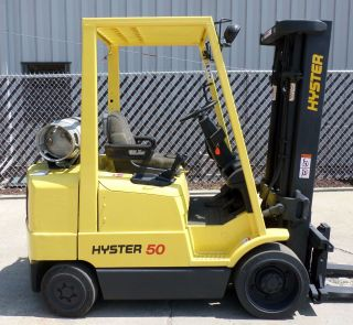 Hyster Model S50xm (1999) 5000lbs Capacity Great Lpg Cushion Tire Forklift photo