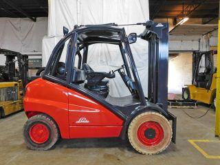 2006 Linde H50t 11000lb Pneumatic Forklift Lpg Lift Truck Hi Lo 97/188 photo
