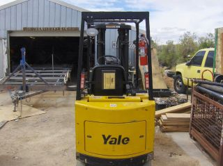 2005 Yale Forklift Electric 3930lb Lift Side Shift 3 Stage 1655 Hours 42